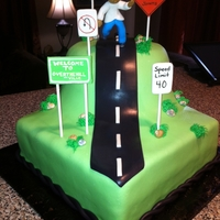"Over The Hill My friend wanted me to do an ""Over the Hill"" cake, but I didn't think ""40"" was considered ""over the hill!..."