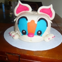 """kitty Cat"" Cake My first attempt ""carving"" into a cake."