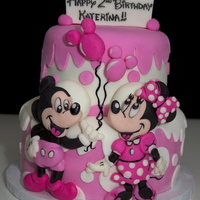Mickey And Minnie Cake Mickey and Minnie Cake