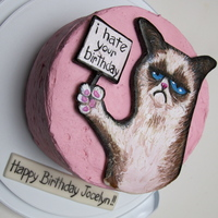 Grumpy Cat Cake all edible grumpy cat, hates your birthday
