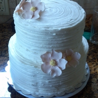 Ridge Birthday Cake Chocolate cake with Vanilla BC frosting and Gum Paste flowers