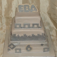 Eba 6Th Anniversary Cake I made this cake for the Eastside Business Association in Washington for their 6th Anniversary. It's a Vanilla cake with Vanilla BS...