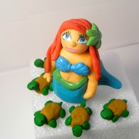 Ariel Attempt Number 4 at a mermaid, made out of fondant.