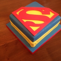 Superman Cake Chocolate mud cake covered with fondant