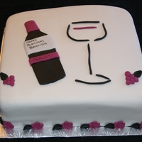 Wine Birthday Cake Birthday Cake