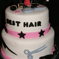 Best Hair Cake 2 tier Salon Cake
