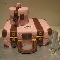 Luggage Set Cake I made this for my Mums birthday, she is off to Europe for a bit of fun!
