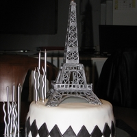 Eiffel Tower Cake One of the first cakes I did for my then 14 year old daughter