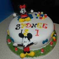Mickey And Minnie Birthday Cake Mickey and Minnie Birthday cake for a little girl