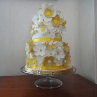 Wedding Cake For Two Very Special People A wedding cake, adorned with flowers for two very special people x