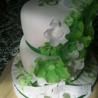 Green Flowered Cake Green flowered cake