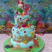 Ariel 3 Tiered Cake 0 White Velvet Cake Filled With Whip Cream And Tres Leches And Chocolate Cake Filled With Chocolate Filling Crushed O Ariel 3-tiered cake :0) White Velvet cake filled with whip cream and tres leches and Chocolate cake filled with chocolate filling, crushed...