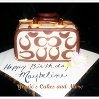 Coach Purse This Purse was done with the template provided by one of you Ladies in the forum ty very much. This Cake was chocolate filled with...