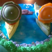 Kayaking Cake
