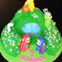 Teletubbies Cake Butter Cream Icing Sponge Cake and Fondant Cake Toppers