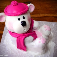 Snowy The Little Bear!   mydearbakes latest creation, featuring Snowy the 3D cake! Bet you didnt know that this is a cake and NOT a soft toy!