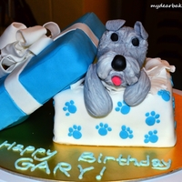 A Dog Themed Birthday Cake 01! This is a dog themed birthday cake which I have done for my bro =)