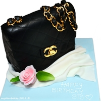 "A ""chanel"" Birthday Cake!   This was a Chanel themed birthday cake which I have recently done for my lovely Sister =)"