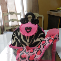 Hot Pink Zebra And Cheetah Print Purse And Shoe Hot pink, zebra and cheetah print purse and shoe