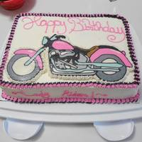 Pink And Black Motorcycle Cake Pink and Black Motorcycle Cake