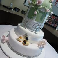 Three Tier Birdcage Wedding Cake