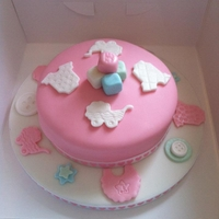 Its A Girl!! A Baby Pink Girl Cake