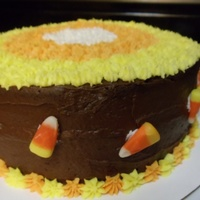 Candy Corn Themed Cake For Halloween Candy Corn Themed Cake for Halloween