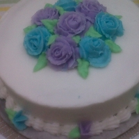 Wilton Course 1 My Wilton Course 1 Final Cake w/ Buttercream flowers