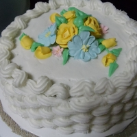 Wilton Course 2 My Wilton Course 2 Final Cake with royal icing flowers