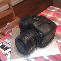 Camera Cake This is my first attempt at making a camera cake.