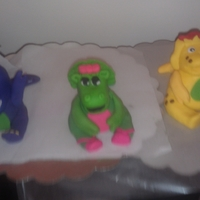 Barney Figurines For Birthday Cake These are the figurines for a Barney cake that I will make this weekend. This is my first time making figurines out of fondant. Feel free...