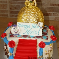 Beauty And The Beast Cake   This a cake I made for a little girl who turns 5