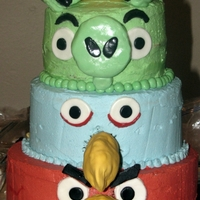 Angry Birds this is my first cake for someone else. (don't worry, i only charged for ingredients) i saw a picture by exclusive cake shop on flickr...