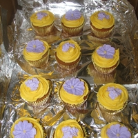 Lsu Colored Cupcakes primroses and violets