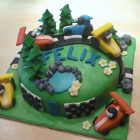 Mountain Car Race - Small Cake