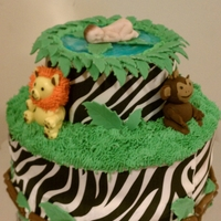 Safari Baby Shower Cake  The couple had a safari theme for their baby shower and so wanted a cake to match that. I was inspired by anne geddes' photos of...