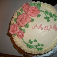 Mothers Day Cake White cake with strawberry filling and vanilla IMBC.