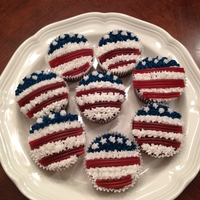 Flag Cupcakes For 4Th Of July