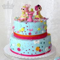 Lalaloopsy For Anna   Two stage cake for 8 years old girl, fondant covered and decorated.