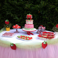 Strawberry Shortcake Buffet Table Strawberry shortcake buffet table