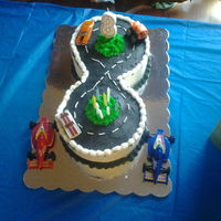 Number 8 Racetrack Cake Number 8 racetrack cake