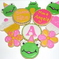 Frog Themed Birthday Cookies Frog themed birthday cookies