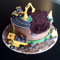 Construction Zone construction cake for my little bros bday. Inspired by another similar one recently posted on here.