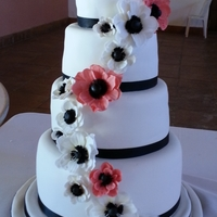 Anemone Wedding Cake This is my wedding cake. four chocolate tiers.