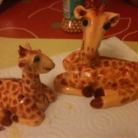 Fondant Giraffes For A Mummy To Be Cake Fondant giraffes for a mummy to be cake