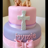 Chocolate Fudge Christening Girls Cake Chocolate fudge christening girls cake