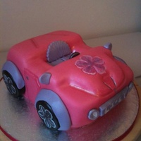 A Girls Car Created For A Miniature Barbie Sponge Buttercream And Fondant A girls car created for a miniature Barbie. Sponge buttercream and fondant.