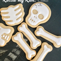 Rattle Mi Ribs-Skeleton Cookies Sugar cookie skeleton decorated with Almond Royal Icing
