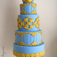 French Blue Cake Decorated With My Own Molds French Blue cake decorated with my own molds!