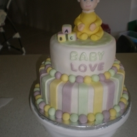 Baby Love Friends last name was Love. My 1st ever tiered cake.